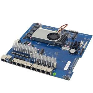 1037U 多网口工控主板 8千兆82574L软路由主板
