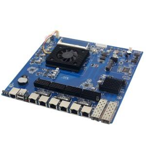 Skylake六代酷睿i3 6100U 6网口网络安全工控主板