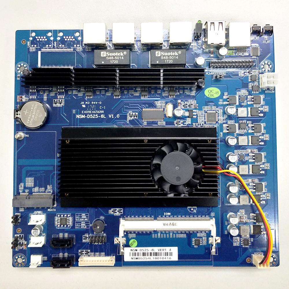 Atom D510 4千兆网口软路由主板 82574L
